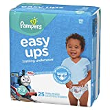 Pampers Easy Ups Pull On Disposable Training Diaper for Boys, Size 4 (2T-3T), Jumbo Pack, 25 Count
