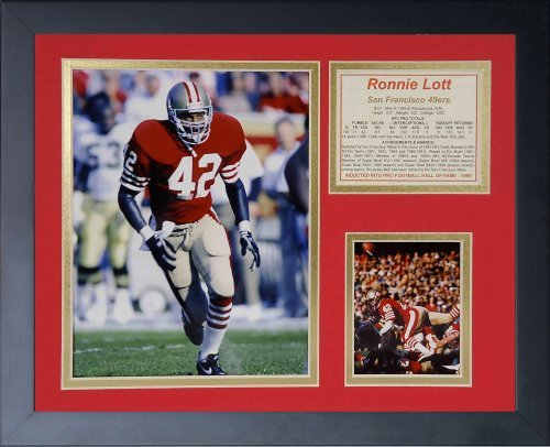Legends Never Die ''Ronnie Lott Framed Photo Collage, 11 x 14-Inch by Legends Never Die