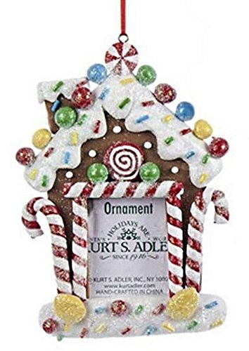 Shelburne Country Store 5.3 inch Candy Photo Frame Ornament - Candycanes