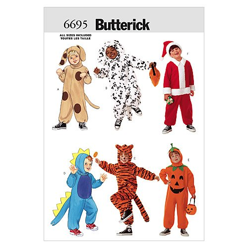 Amazon Butterick Patterns B6695 Childrens Costume All Sizes