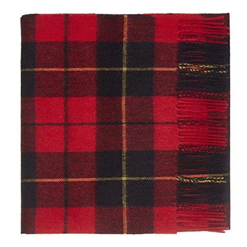Mens Cashmere Plaid Scarf - 100% Lambswool Tartan Scarf by Shepherds Land (Medium, Wallace)