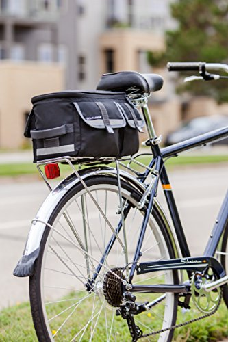 Schwinn Rack Top Bag with Reflective Strip
