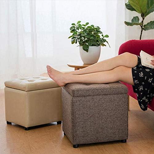 CHHD Chaise de Bureau, Tabouret de Rangement carré Changer Le Tabouret de canapé Tabouret Tabouret Bas Tabouret Bas (Taille: 40 * 40 * 40cm)