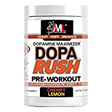 Advanced Molecular Labs - Dopa Rush PRE-Workout, Dopamine Maximizer, Increases Drive, Focus, Energy & Clarity, Cherry Lemon, 9.88 oz