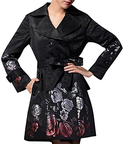 (Belted Embroidered Coat)