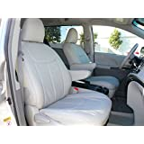 Clazzio 241243lgy Light Grey Leather Front, Rear and Third Row Seat Cover for Toyota Sienna L/LE