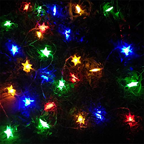 BGFHDSD 5M 50 LED Star Copper Wire String Lights LED Fairy Lights Christmas Wedding Decoration Lamps New Year Gift Twinkle Lights Blue by BGFHDSD (Image #5)