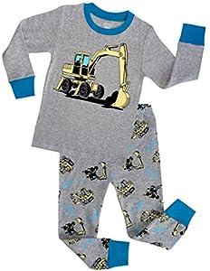 Boys Truck Pajamas Children Christmas Gift Kids Clothes 100% Cotton Size 2-7