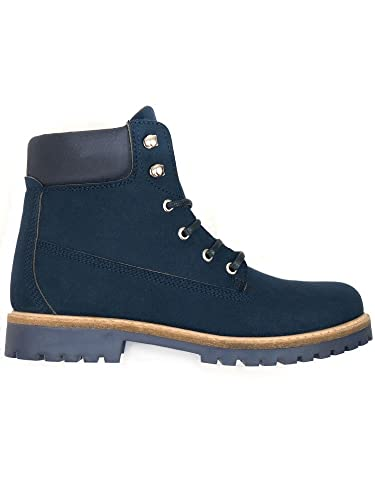 1e87bb0dfb Will s Vegan Shoes Women s Dock Boots Dark Blue-9 UK   42 EU   11