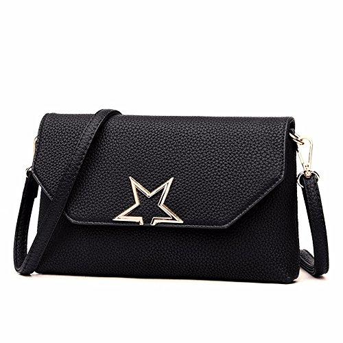 26 cuir sac cm sac coursier le sac en black nouveau 16 3 main de Black souple sac enveloppe à le 6XxRwqnpfx