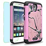 Alcatel One Touch Pop Astro / 5042T Case, INNOVAA Smart Grid Defender Graphic Case W/ Free Screen Protector & Touch Screen Stylus Pen - Pink Camo
