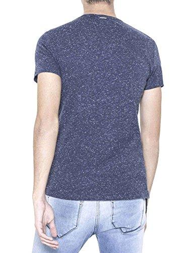 ANTONY MORATO Camiseta Slim fit de algodón efecto jaspeado - L, BLU