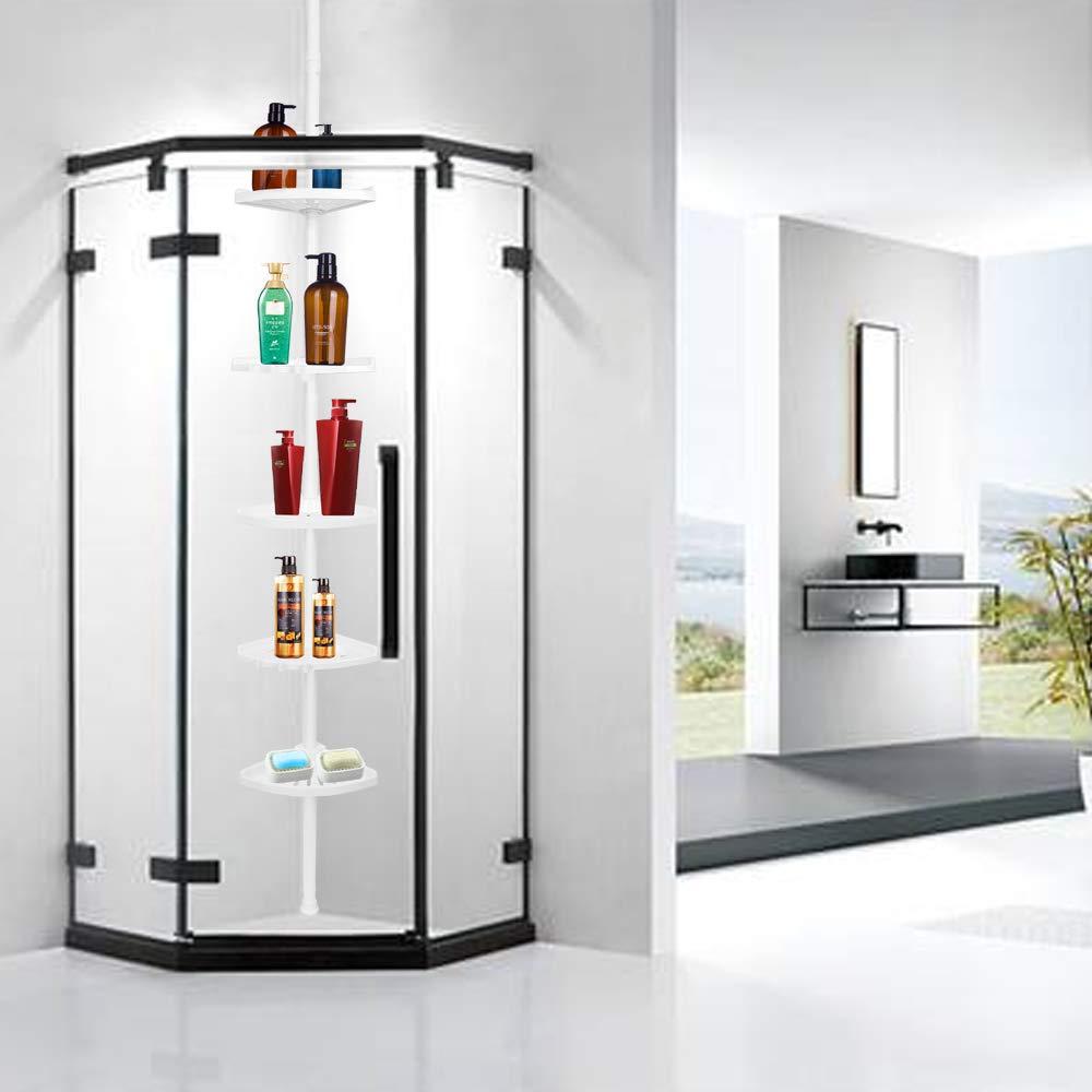 Amazon.com: Lomejor – Cesta de ducha de 5 niveles de tensión ...