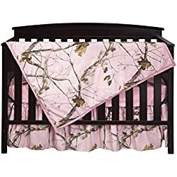 Carstens Real Tree AP Camo 3-Piece Crib Sheet Set, Pink