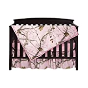 Carstens Real Tree AP Camo 3-Piece Crib Sheet Set, Pink