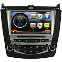 Koolertron Car DVD GPS Navigation System Car Video For 7 th 2003 2004 2005 2006 2007 Honda Accord Dual Zone 8 Inch Digital HD Touchscreen