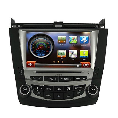 Koolertron for 7th 2003-2007 Honda Accord Dual Zone 8 Inch Digital HD Touchscreen Car DVD GPS Honda Accord Radio (Dual Zone) ()