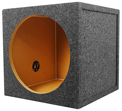 3/4 Mdf Sub Enclosure - Rockville RS12 Single 12 1.0 cu.ft. 3/4 MDF Sealed Subwoofer Enclosure Box