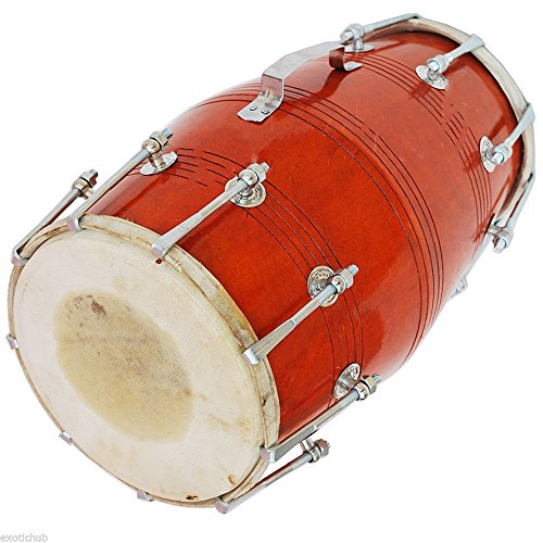 DHOLAK-DRUMS-18-BOLT-TUNED-MADE-WITH-MANGO-WOOD~HAND MADE INDIAN-KIRTAN-MANTR by SAI MUSICAL