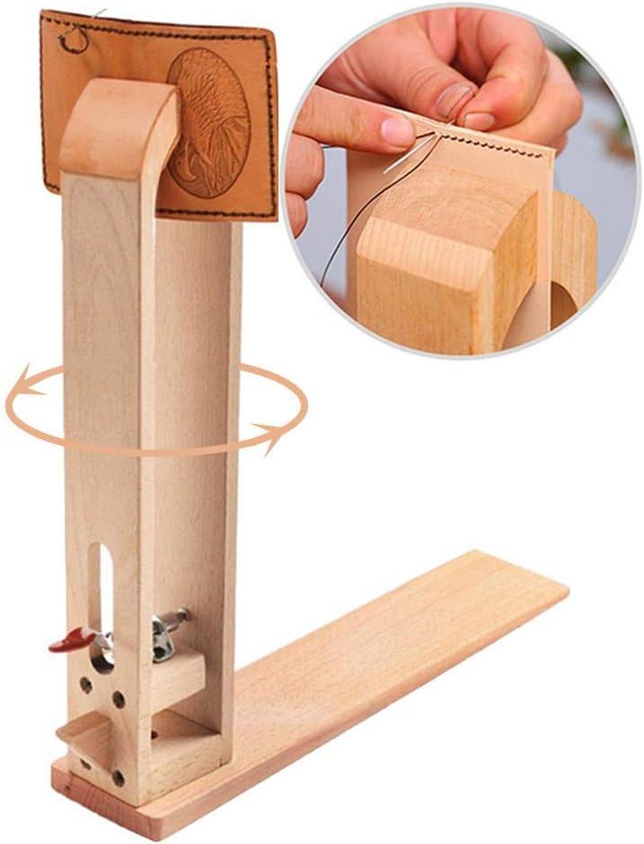 Cordones de madera de cuero para mesa o caballo de costura de escritorio, para manualidades, costura de cuero, herramientas de artesanía