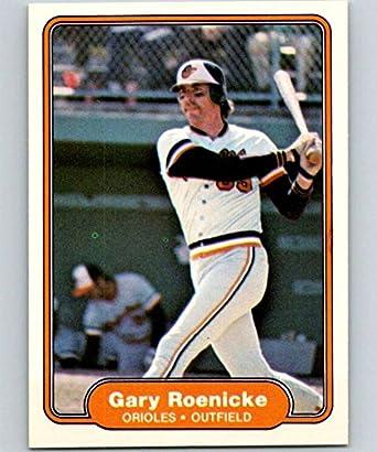 Amazoncom 1982 Fleer Baseball Card 177 Gary Roenicke Baltimore