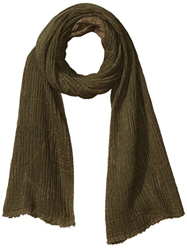 Armani Exchange Men's Viscose and Cotton Fabric Scarf with Abstract Detail, Green, ONE SIZE