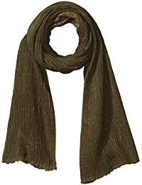 Armani Exchange Men's Viscose and Cotton Fabric Scarf with Abstract Detail