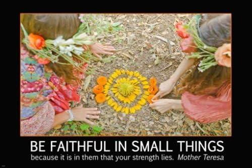 FLOWER CHILDREN /& MOTHER TERESA quote INSPIRATIONAL poster 24X36 PETALS
