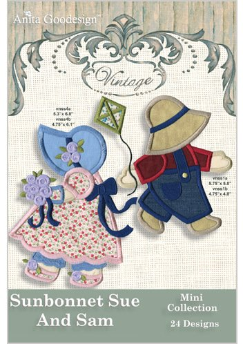 Amazon.com: Anita Goodesign Sunbonnet Sue and Sam Embroidery Designs ...