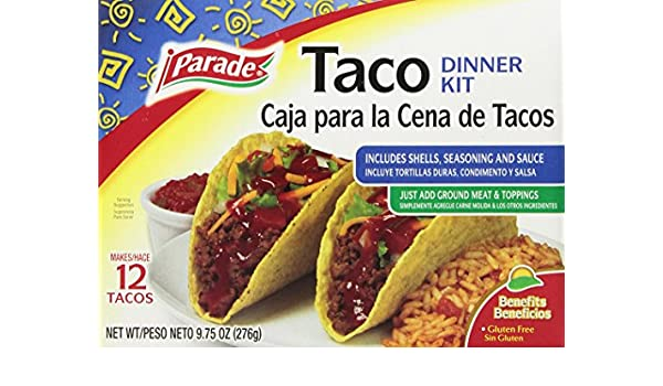 Amazon.com : Parade Taco Dinner Kit, 12 Count (Pack of 12) : Grocery & Gourmet Food