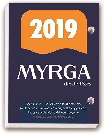 TACO CALENDARIO MYRGA SOBREMESA Nº 3 2019