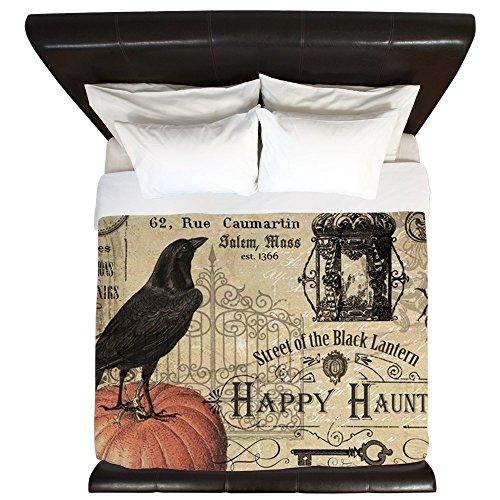 CafePress - Modern Vintage Halloween - King Duvet Cover, Printed Comforter Cover, Unique Bedding, Luxe