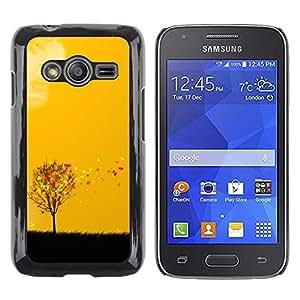 Paccase / Dura PC Caso Funda Carcasa de Protección para - Autumn Seasons Yellow Orange Tree Field Art - Samsung Galaxy Ace 4 G313 SM-G313F