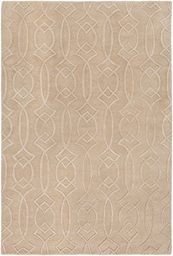 RugPal Solid/Striped Rectangle Area Rug 2'x3' in Oatmeal Color From Marie Collection
