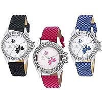 Marclex Analogue Multicolour Dial Quartz Movement Women's Watches (Combo of 3)