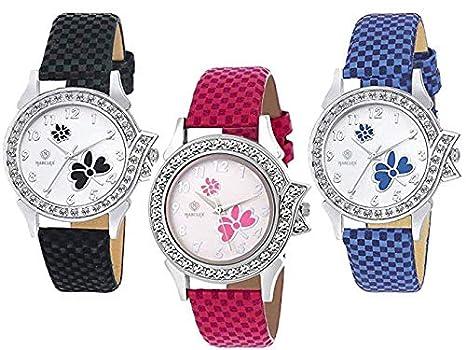 d812ab09c Marclex Analogue Multicolour Dial Quartz Movement Women's Watches (Combo of  ...