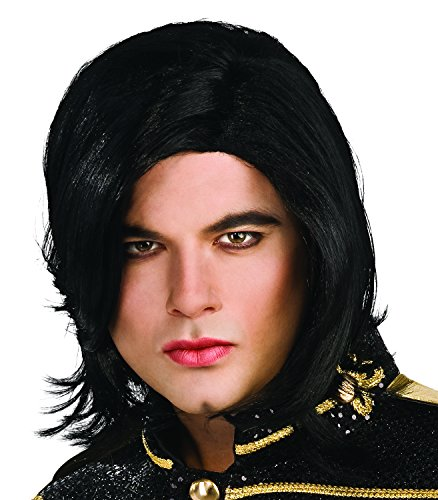 [Michael Jackson Long Straight Wig] (Mj Thriller Halloween Costume)