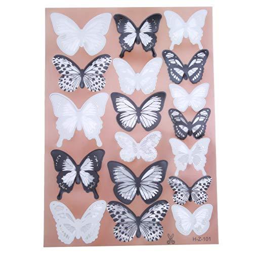 GUAngqi 18pcs 3D PVC Butterflies DIY Butterfly Art Decal Home Decor Wall Mural Stickers