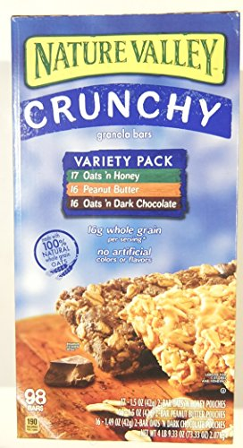 Nature Valley Crunchy Granola Bars Variety Pack 49 pouches - 1.49 oz each (98 bars)