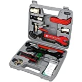 Anself sahoo 44pi ces coffret d 39 outils v lo multifonction de r paration et entretien avec boite - Boite a outils velo ...