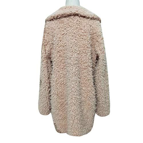 Donna Giacca Outwear Cappotto Femminile Parka Allentato Autunno Tasca Casuale Trench Cappotti Caldo Morwind Inverno Khaki Outercoat E8qPntEd