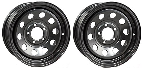 eCustomRim 2-Pack Trailer Wheel Black Rims 15 x 5 Modular Style (5 Lug On 4.5