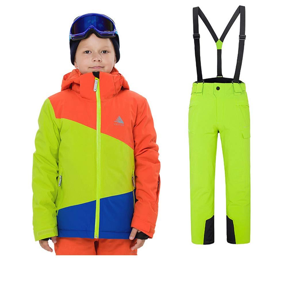 Skijacke+ Skihose YFCH Kinder Jungen//M/ädchen 2 Teilig Skianzug Schneeanzug