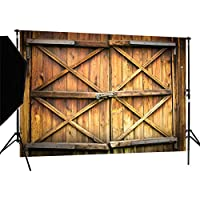 DULUDA 7X5FT Barn Door with Lock Pictorial cloth Customized photography Backdrop Background studio prop WXL17