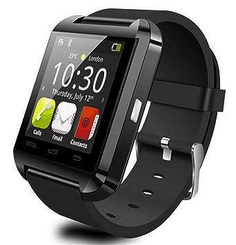 Reloj Inteligente, Bluetooth U8 Apto para teléfonos Inteligentes Reloj LED de Pantalla con dial/Respuesta de Llamada/SMS Recordatorio/Reproductor de ...