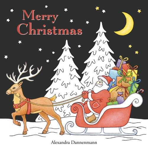 Merry Christmas: a beautiful colouring book with Christmas designs on a black background, for gloriously vivid colours (Merry Christmas Crafts)