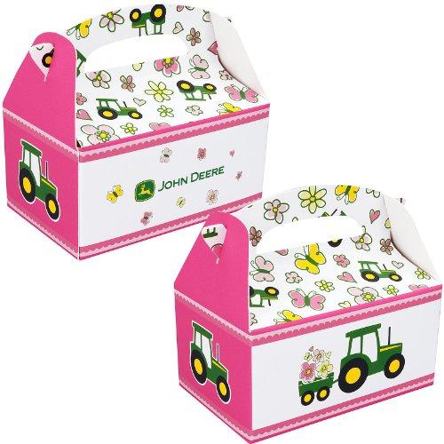 BirthdayExpress John Deere Pink Empty Favor Boxes (4) -