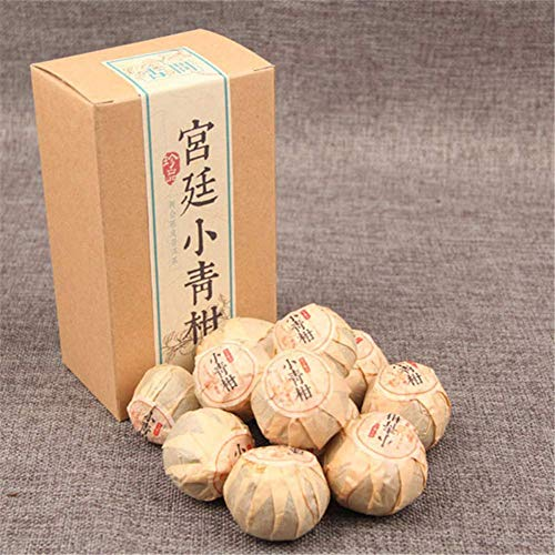 Yunnan Puerh tea small green citrus pu er cooked tea Boxed 100g (0.22LB) Green food Pu'er tea Black tea Chinese tea healthy food Pu-erh tea Old trees Pu erh tea Red tea - Old Tree Pu Erh Tea