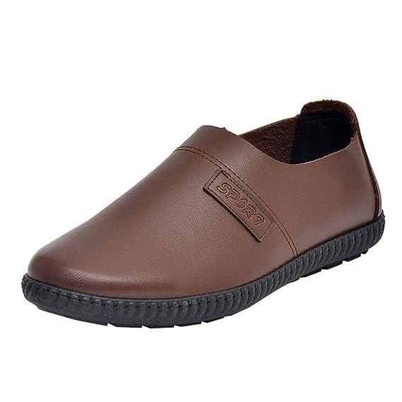 7647aac60f2de Chaussures décontractées à Une Jambe, LuckyGirls Mode Nouveau Chaussure  d affaire en Cuir Résistant