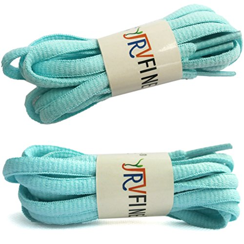 YJRVFINE 2 Pair Oval Running Shoelace Sport Shoe Laces String Shoelaces Moonlight - Length:47.24